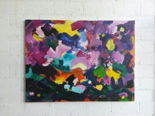 Landschap 60x80cm Acrylic on canvas