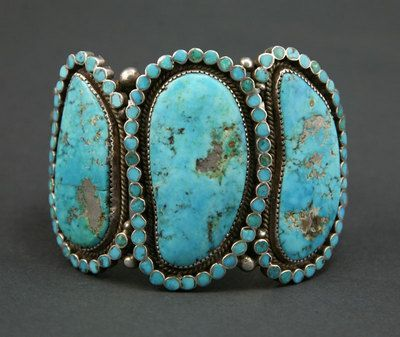 Zuni bracelet - Morenci mine turquoise, by Virgil Dishta...to die for!
