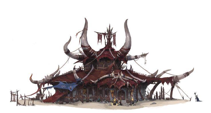 Elder Orc House, Eunsu Kang on ArtStation at https://www.artstation.com/artwork/gyy8Q