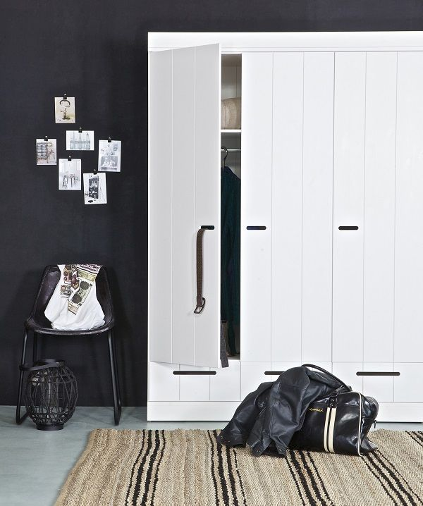 white wardrobes - neo nordic design and great with dark walls