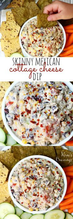 Thanks to my favorite chip and cracker brand, Food Should Taste Good®, for sponsoring this post and festive, flavorful Skinny Mexican Cottage Cheese Dip! Grab some chips and raw veggies and serve this at your next summer get together! #spon