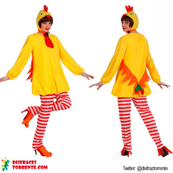 Disfraz de pollo pollito para mujer. Talla M-L