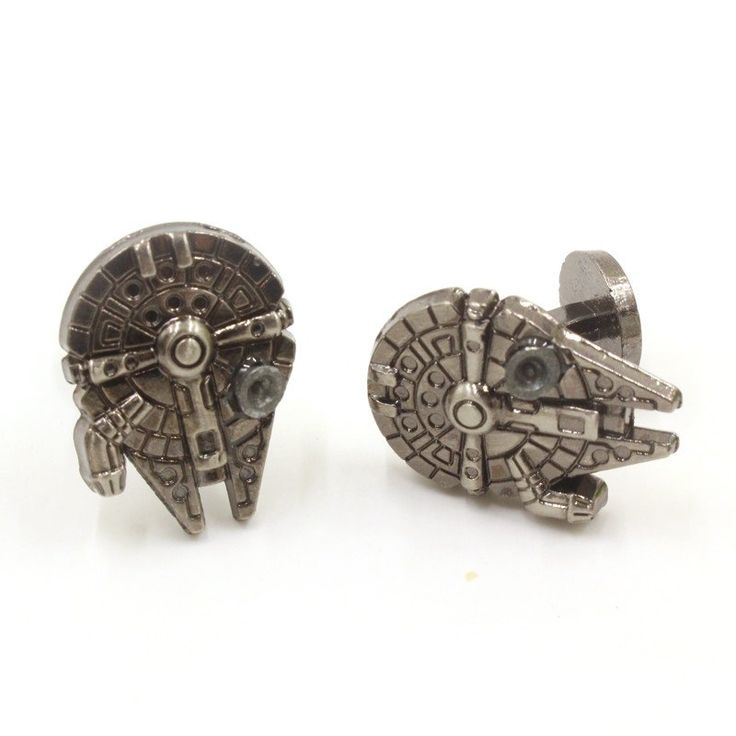 Get This Star Wars Millennium Falcon Palladium Cufflinks and let the world know you're a Star Wars fan! Infuse intergalactic style into your business ready look with these Star Wars Millennium Falcon