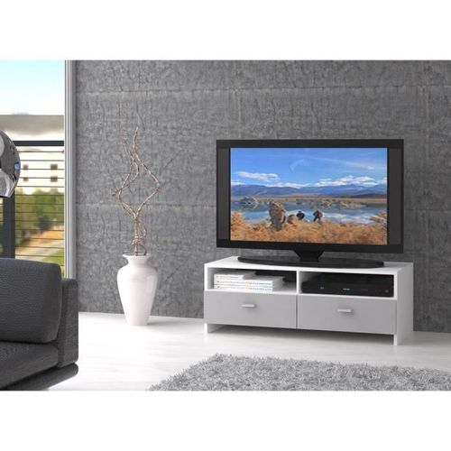 Finlandek salon finlandek meuble tv bingo 95 cm blanc for Meuble tv finlandek
