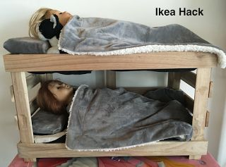 "18"" American Girl Doll DIY Bunk Bed, IKEA Hack $10"
