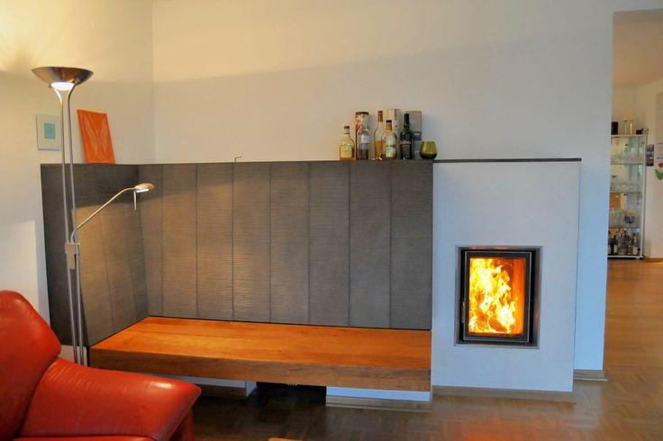 kachelofen mit gro er freischwebender sitzbank hausbau pinterest kachelofen sitzbank und ofen. Black Bedroom Furniture Sets. Home Design Ideas