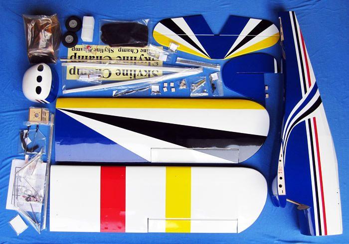 "106"" Giant Scale 30-50CC Skyline Champ Gas Remote Control RC Airplane Kit (Blue) RC Remote Control Radio"