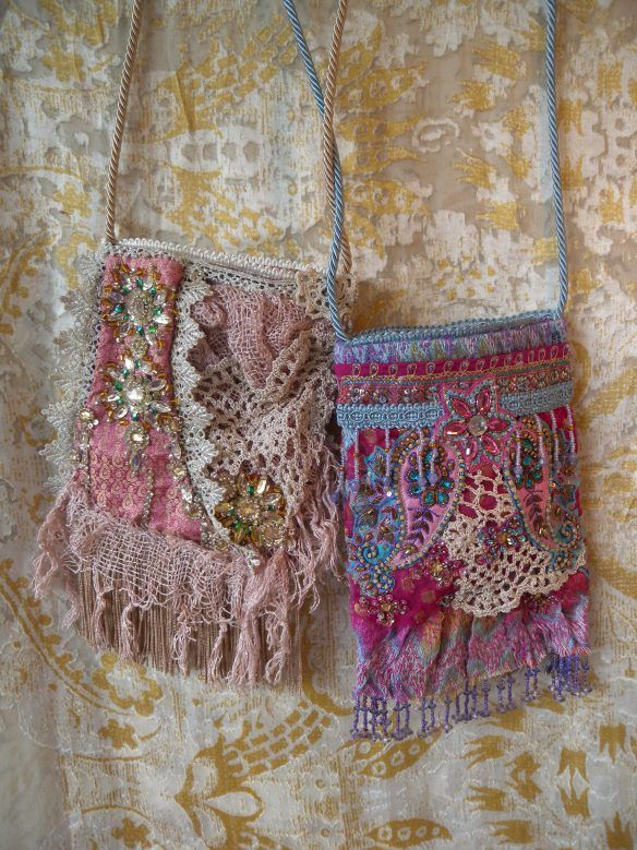 Very pretty little boho inspired bags. | Bohemian ...