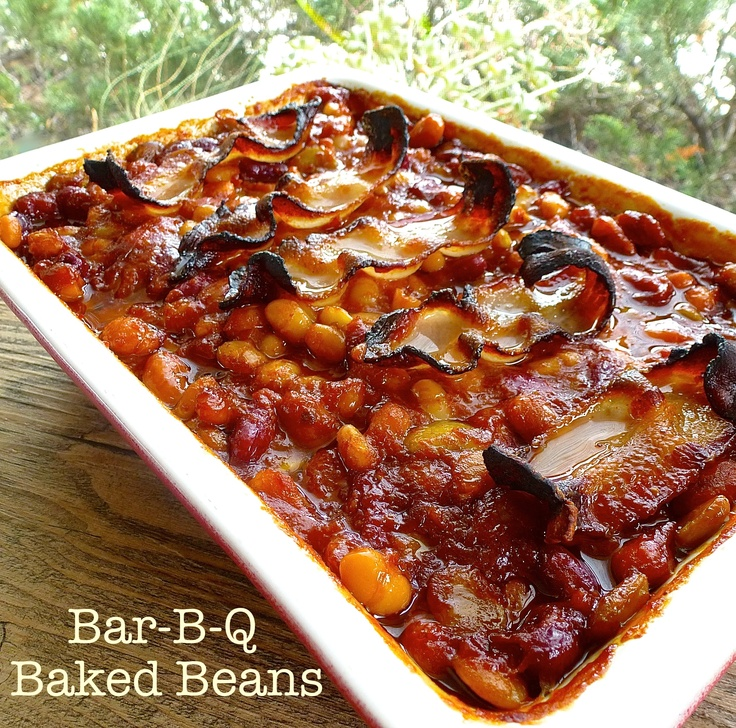 Bar-B-Que Baked Beans get their tang from chili sauce.