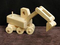 Escavadeira Tractor 056 por ToysByJohn no Etsy DIMENSÕES 8 polegadas de comprimento 3-1 / 2 polegadas de largura 8 polegadas de altura $17.99