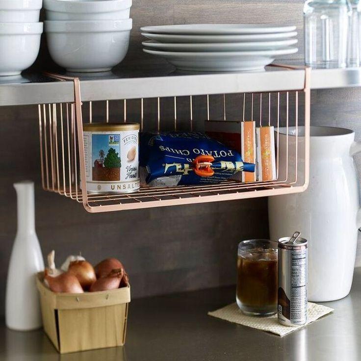 Lincoln Under-shelf Copper Organizer