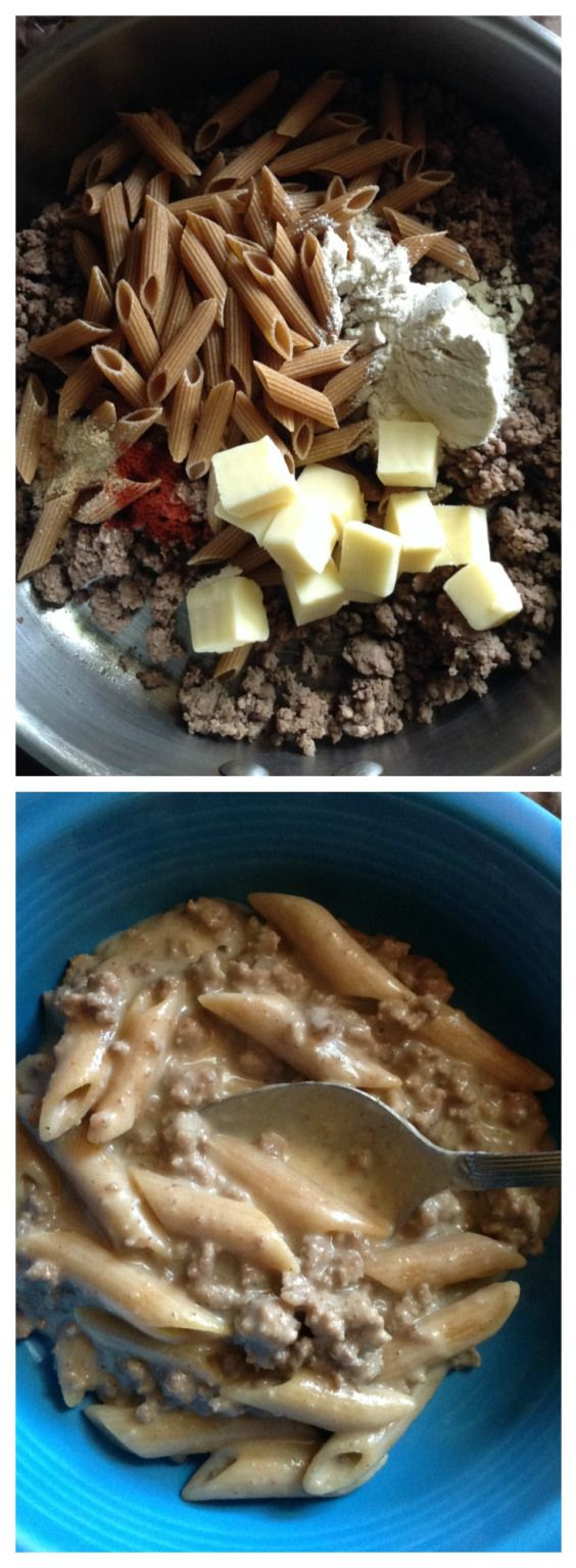 hamburger helper from scratch.   Much healthier.