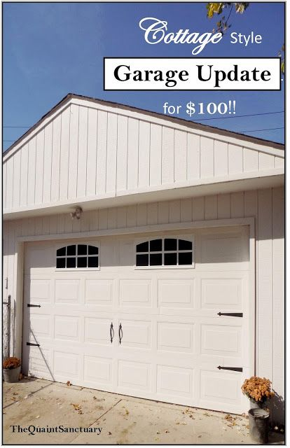 The Quaint Sanctuary: { Simple & Instant Garage Door Update! }