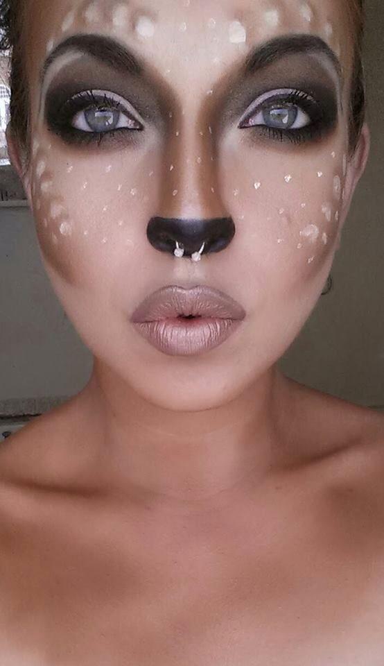 Bambi Click Pic for 26 DIY Halloween Makeup Ideas for Women...