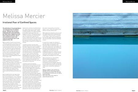 """Irrational Fear Of Confined Spaces"" featured in a 6 page spread in Silvershotz magazine.   www.melissamercier.com/Silvershotz"