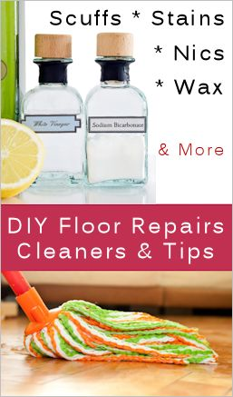 Tips For Fixing Floor Scuffs, Stains, Nics & More : TipNut.com  I'm trying this on my laminate floors