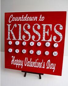 Countdown zum Valentinstag, Dekoration für die Wand  >> naturallyestes: 25 DIY Valentine's Day Decorations