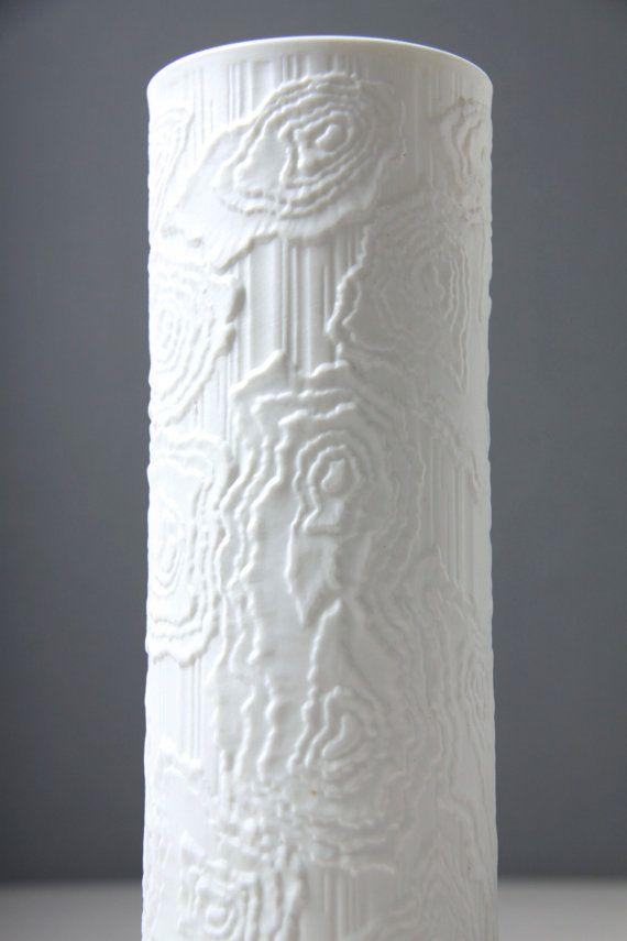 Alka Kunst Kaiser weiß Biskuit Porzellanvase von afterglowretro
