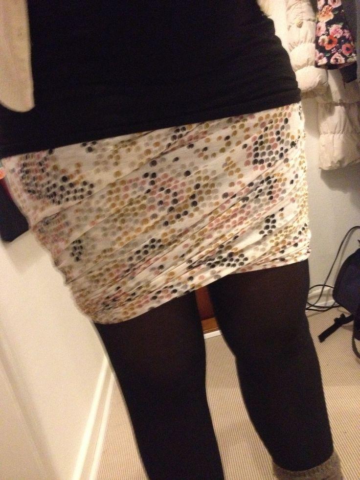 Draperet nederdel syet i jersey / homemade jersey skirt