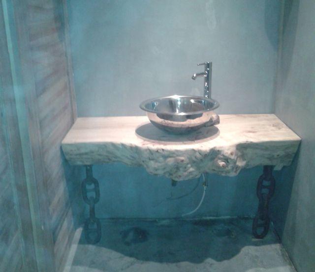 Kütük Ahşap Banyo Lavaboları 01