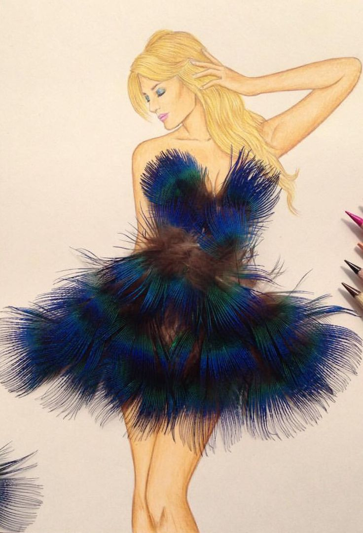 'Feather Dress' by @edgar_artis| Be Inspirational❥|Mz. Manerz: Being well dressed is a beautiful form of confidence, happiness & politeness