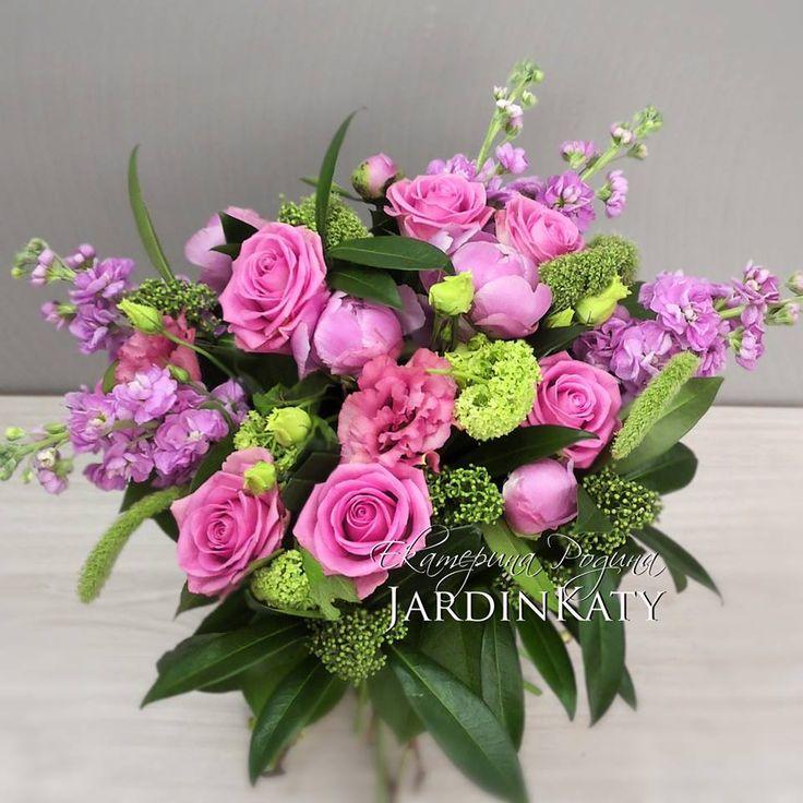 Цвет и аромат! Розы аква, пионы, лизиантус и волшебная ароматная маттиола!