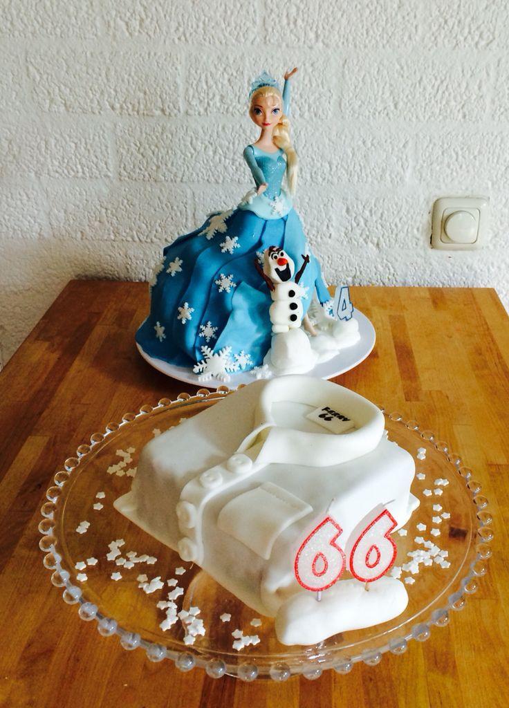 Elsa en overhemd taart