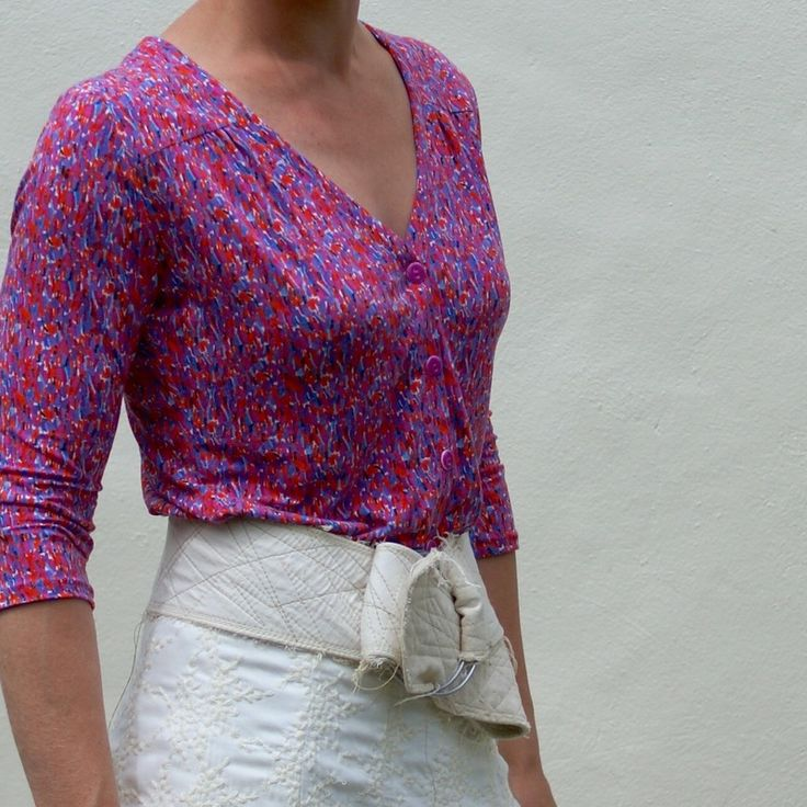 Camas Blouse in Liberty of London Dufour Viscose Jersey. Pattern review.  fabric and sewing pattern available online at www.missmaudesewing.co.nz