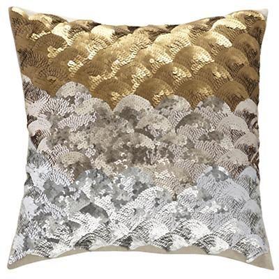 Kids Throw Pillows: Sequins Metallic Throw Pillow in Kids Throw Pillows