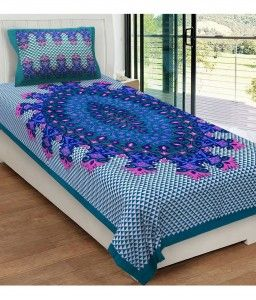 57% Off On Metro Living Single Cotton Multi Printed Bed Sheet in Snapdeal at Lowest Price