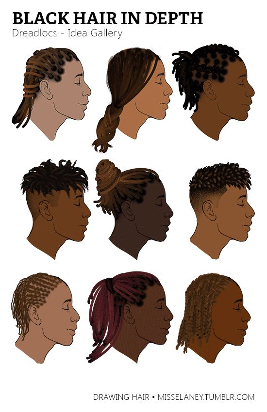 """misselaney: """"How to draw Dreadlocs! See Part One: Rendering Natural Black Hair Coming Up Next: VOTE by sending to my Ask box! (Until March 1st). Feel free to suggest any style or subject matter within..."""