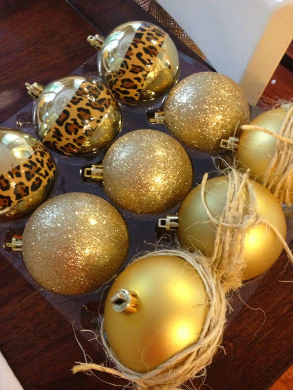 Ideas for giving simple gold ornaments a little extra pizazz   From The  Home Depot's Apron blog Holiday Style Challenge series and Cou… - Ideas For Giving Simple Gold Ornaments A Little Extra Pizazz From