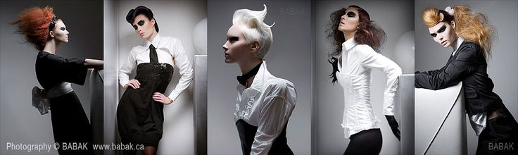 Naha North American Hairstylist of the year Charle Price - Winning collection with Photographer BABAK.
