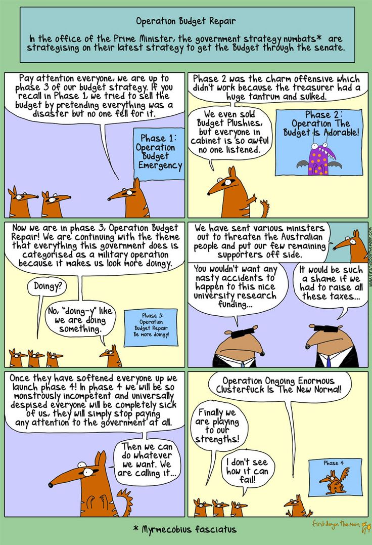 ABBOTT AND CO DEVIOUS BUDGET STRATEGIES Cartoon by First Dog on the Moon.