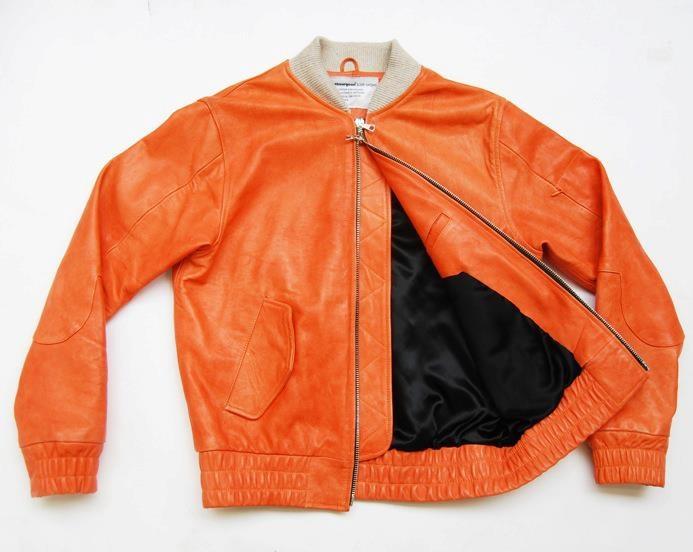 ClothSurgeon RSMA-1 Jacket.Orange washed Nappa Leather