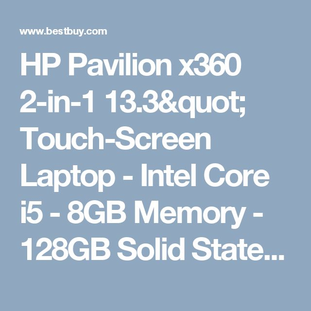 "HP Pavilion x360 2-in-1 13.3"" Touch-Screen Laptop - Intel Core i5 - 8GB Memory - 128GB Solid State Drive Gold m3-u103dx - Best Buy"