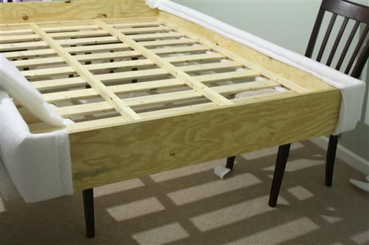 DIY Platform Bed Upholstering The Platform View Along