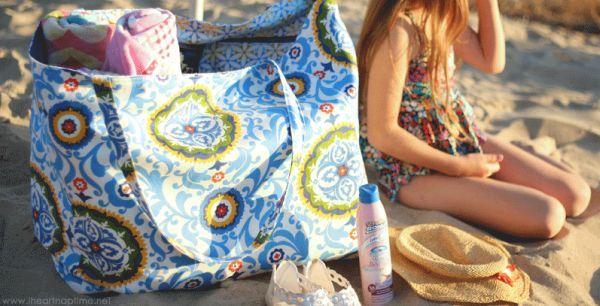 Esta grande bolsa de praia pode também ser menor, se você preferir (Foto: iheartnaptime.net)