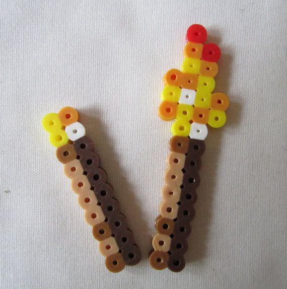 Perler Minecraft Torches via Etsy