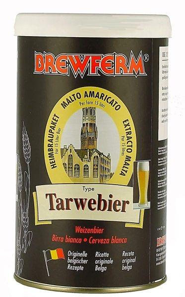 Brewfwerm Tarwebier bere alba  O bere gustoasa, potoleste rapid setea, foarte usoara, usor tulbure, cu o aroma reconfortanta minunata.  O adevarata bere alba!  Ingrediente: Malt de orz, extract de malt de grau. fulgi de ovaz, ierburi Drojdie speciala Brewferm  Greutate kit - 1.5 kg Pentru 15 litri de bere ABV - aprox. 5% Densitate la inceput - 1052