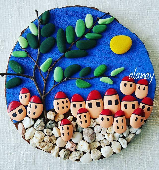 #taş #taşboyama #stone #stonepainting #stoneart #resim #hobi #terapi…