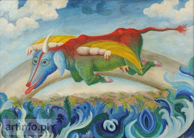 """Teofil Ociepka """"Fruwająca krówka Saturna"""", 1956"""