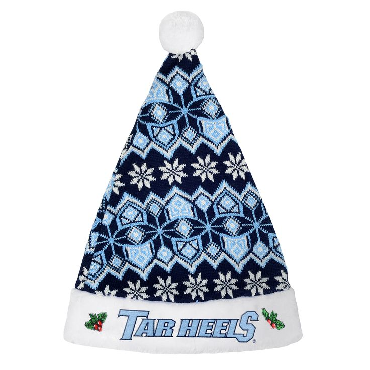 north carolina tar heels 2015 knit christmas santa hat