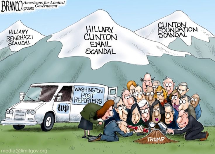 Image result for HILLARY  VS TRUMP  MOUNTAIN CARTOON