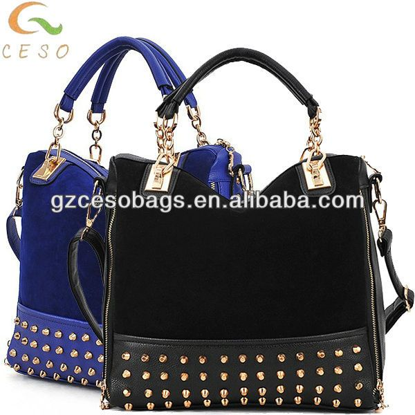Black & blue American & Europe newest fashion ladies handbags 2014  FOB Price: US $ 7.4 - 12.4 / Piece | Get Latest Price Min.Order Quantity: 300 Piece/Pieces sample can be offered Supply Ability: 100000 Piece/Pieces per Month