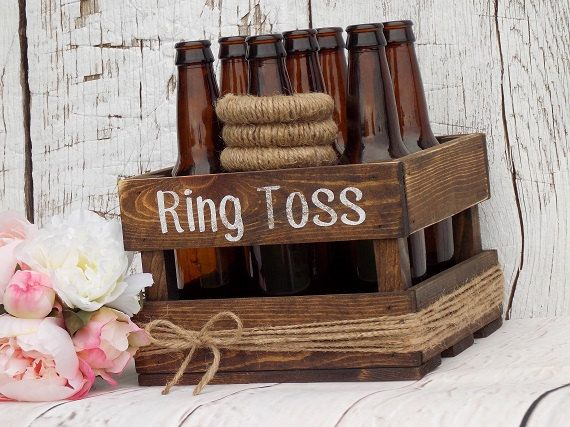 Ring Toss Game Rustic Wedding Decor Outdoor Party Game Wedding Games Yard Games…