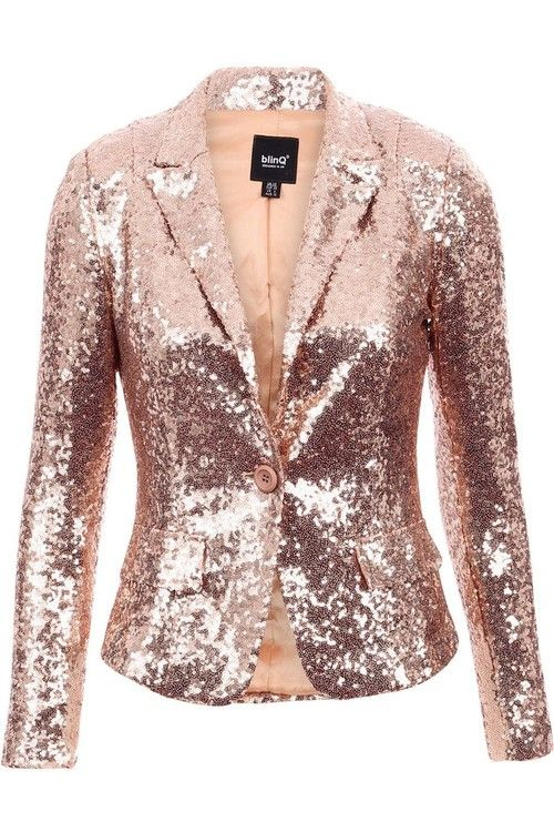 Laura Rose gold sequin blazer