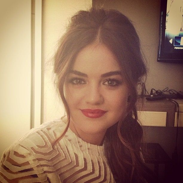 Lucy Hale sits pretty, talks makeup - will we see her front row at #NYFW?