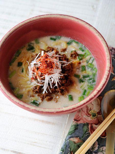 【ELLE a table】豆腐クリーム坦々麺レシピ|エル・オンライン