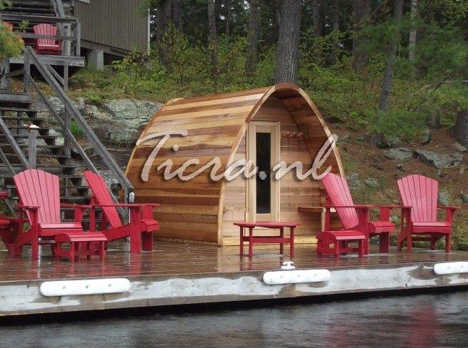 Red Cedar Barrel Sauna en SaunaPOD